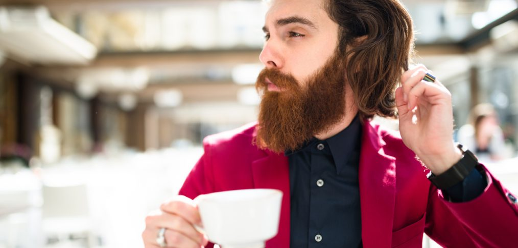 Express yourself—Man eating breakfast