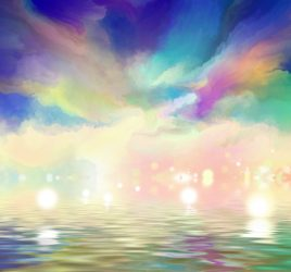 Magic Moments. A painting depicting an abstract magic moment.
